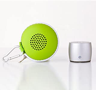 Portable Wireless Mini Speaker with Passive Subwoofer, Enhanced Impactive Bass, Tiny Body Loud Voice, Minimalism Design, P...