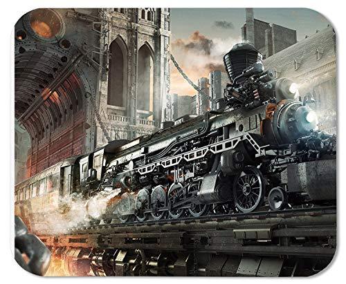 SteampunkRailroadTrainMausMattePadMousepad