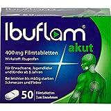 Ibuflam akut 400 mg Filmtabletten bei Schmerzen und Fieber, 50 St. Tabletten