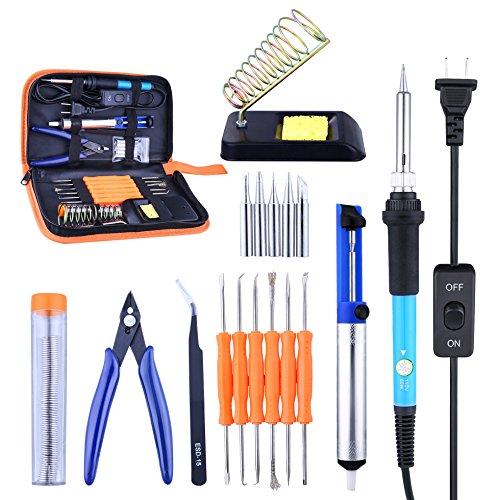 Soldering Iron Kit, Solder Iron Tool Kit 60W Soldering Iron Adjustable Temperature
