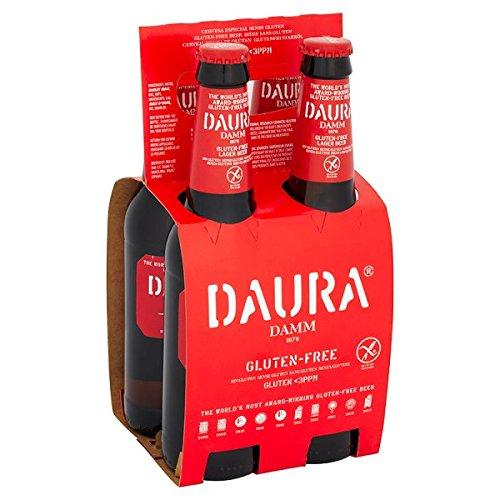 Daura Damm Glutenfrei-Lager-Bier 4 x 330ml (Packung mit 24 x 330 ml)