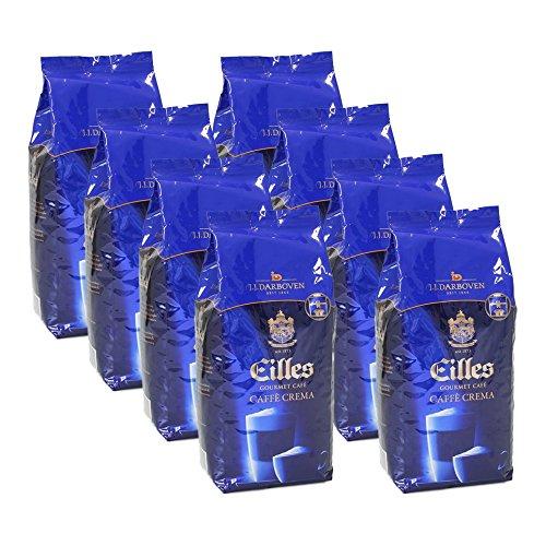 Eilles Gourmet Café Caffè Crema, 1000g, ganze Bohne 8er Pack