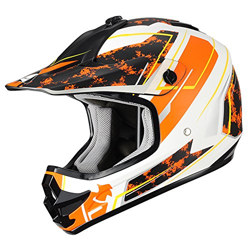 "Triangle Youth OffRoad Motorcycle Helmets ""Stain"" Sport ATV Motocross Dirt Bike [DOT] Yellow (Medium)"