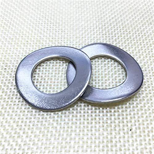Myouzhen-Arandelas planas M3 / M4 / M5 / M6 / M8-M20 304 Lavadoras de onda curvada de acero inoxidable 304 Lavadora elástica en forma de onda, Durable fácil de instalar ( Inner Diameter : M5 50Pcs )