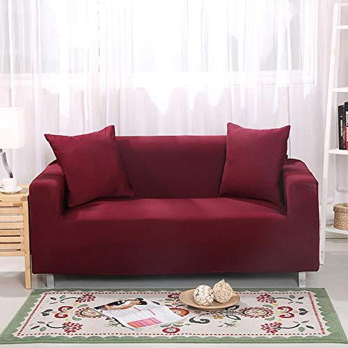 Fsogasilttlv Funda Sofa Ajustables Rojo 2 plazas, Funda de sofá elástica para Sala de Estar Funda de sofá elástica, Funda de sofá Protector de Muebles Four Seasons 145-185cm 1 PCS