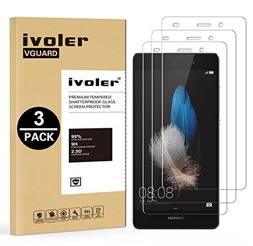 iVoler [3 Pack] Pellicola Vetro Temperato per Huawei P8 Lite, Pellicola Protettiva, Protezione per Schermo