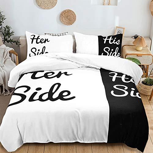 USTIDE Funda de edredón suave para hombres y mujeres, juego de ropa de cama, funda de edredón estampada lateral, trans