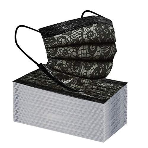 Keepwin 50 Stück Einweg 3 lagig Mund-Nasen-Schutz, Motiv Atmungsaktive Multifunktionstuch Bandana Halstuch Schals für Erwachsene und Kinder (C-50PC)