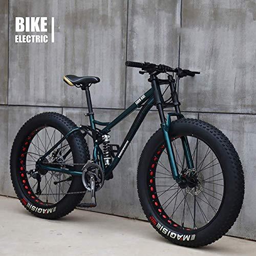 Bicycle 26 Inch MTB Top, Fat Wheel Motorbike/Fat Bike/Fat Tire Mountain Bike, Beach Cruiser Fat Tire Bike Snow Bike Fat Big Tyre Bicycle 21speed Fat Bikes for Adult,Bronze,24IN