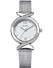 DWG レディース 腕時計 クリスタル ローマ数字 電池交換可能 日本製クォーツ イタリアデザイナー 高級感 ピンクゴールド