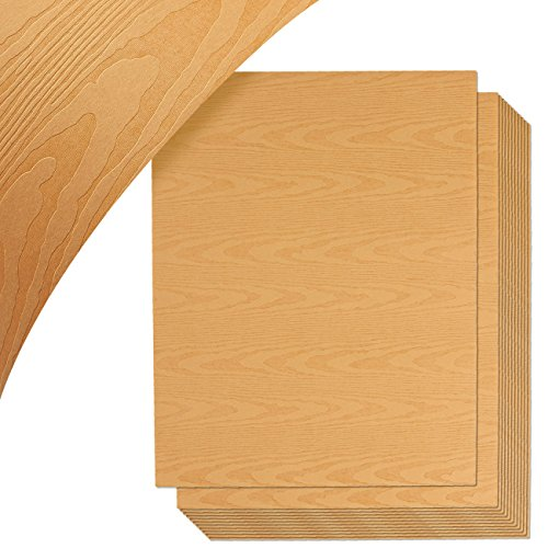 Wood Grain Stationery Paper, Letter Size (8.5 x 11 Inches, 48-Pack)