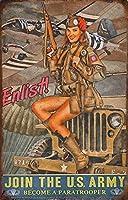 ティンサインセクシー美容広告ポスターメタルヴィンテージアールデコ