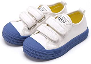 Exgingle Kids Boys Girls Canvas Shoes Anti-Slip Sneakers for Toddler/Little Kid