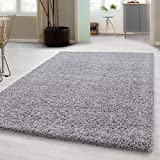 Hochflor Shaggy Teppich für Wohnzimmer Langflor Pflegeleicht Schadsstof geprüft 3 cm Florhöhe...