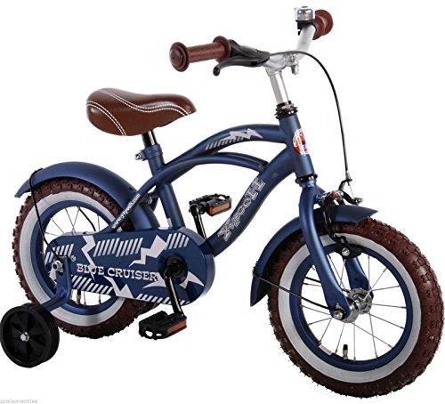 12 Zoll Fahrrad Qualitäts Kinderfahrrad matt Blau Stützräder Blue Cruiser 51201