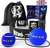 Revo Fight Upgraded Boxing Reflex Ball, Premium Boxing Ball headband, Boxing Equipment for home, Punch Ball for Kids and Adults, Suit for Training, Reaction, Speed & Reflexes