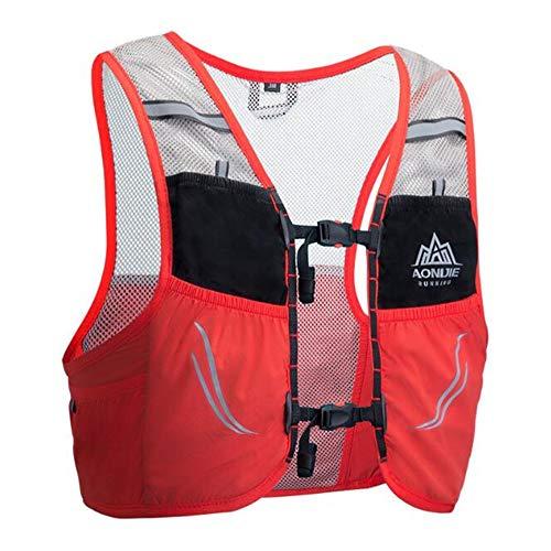 AONIJIE mochila de hidratación de 2,5 litros, para maratoner, correr, carreras, chaleco de hidratación para correr, senderismo, con mochila de hidratación [para hombres o mujeres] (naranja, M/L)
