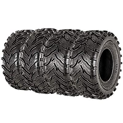 VANACC Set of 4 ATV UTV Tires 27x9-12 Front & 27x11-12 Rear Mud Tire 27x9x12 27x11x12, 6PR Tubeless