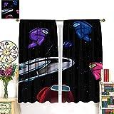 Petpany Among Us Limited Art Cortinas opacas de 183 x 160 cm, ahorro de energía, cortinas de dormitorio