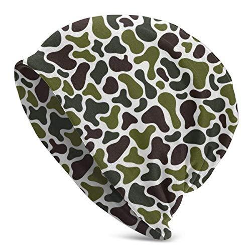 Lawenp Gorros de Punto con Estampado de Camuflaje Verde para Hombre, Mujer, Gorros de Invierno, Gorros de Cobertura