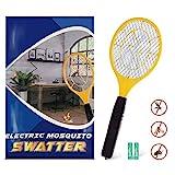 Zenoplige Elektrische Fliegenklatsche,Insektenvernichter mit Herausnehmbaren Batterien Insekten Mörder Frei von Giftstoffen und Gerüchen Ideal für Drinnen und Draußen (Gelb)