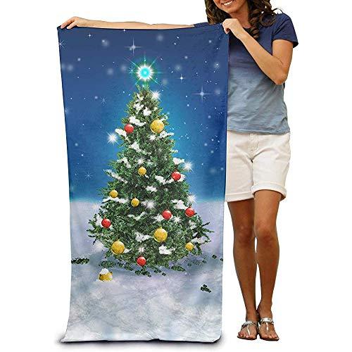utong Toallas de Playa 100% algodón 80x130cm Toalla de Secado rápido para Nadadores Manta de Playa de Nieve para árbol de Navidad