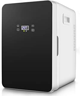 20L Mini Fridge, Portable Compact Refrigerator with Digital Temperature Control, Single Door Cooler and Warmer for Bedroom, Face Care, Office, Dorm, Car, Road trips Black(US STOCK)