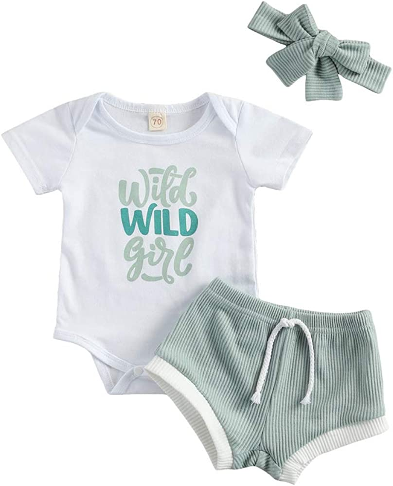 Infant Baby security Girls Ribbed Shorts Bodysui Wild Girl Ranking TOP8 Outfits Romper