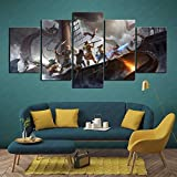 CAFO Family Needs Pillars of Eternity 2 Death Fire 5 Panel Painting Wall Poster 100x50cm Frameless