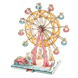 Wooden Ferris Wheel 3D Wooden Puzzle Wooden Building Kit for Birthday Present, Thanksgiving Gift, New Year Gift