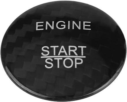 Kimiss Motor Startknopfabdeckung Kohlefaser Motor Start Stop Taste Abdeckung Trim Für A B C Glc Gla Cla Ml Klasse Schwarz Auto