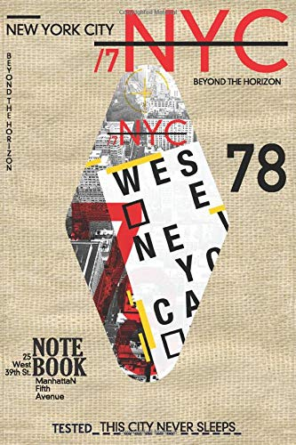 New York City Notebook: Souvenir Journal Diary, Gift from New York, Times Square, Manhattan, NY, ... NYC / 120 Lined Pages / Vintage Design