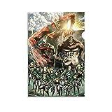 HUAIREN Póster de anime con personajes completos de la temporada 1 de Attack on Titan Season 1, póster y arte de pared, impresión moderna para dormitorio familiar, 30 x 45 cm