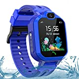 Kids Smartwatch for Girls Boys, IP67 Waterproof GPS/LBS Smartwatches for Kids, HD Touch Screen Phone Voice Chat Kids Smart Watch with Camera,SOS,Alarm, Games,Birthday Gift for Kids Age 3-14