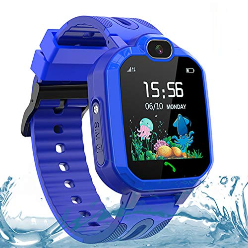 Kids Smartwatch for Girls Boys, IP67 Waterproof GPS/LBS Smartwatches for Kids, HD Touch Screen Phone Voice Chat Kids Smart Watch with Camera, SOS ,Alarm, Games,Birthday Gift for Kids Age 3-14 (Pink