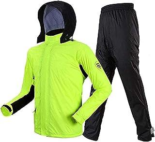 PPCP Raincoat (Raincoat and Rain Pants Set) Raincoat Split Adult Raincoat Rain Pants Thickened Windproof Waterproof Rainco...