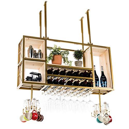 COLiJOL Gabinete Organizador Colgante Rack Copas de Vino Organizador de Almacenamiento M de Madera Estantes para Copas con Gancho Multifuncional Organizador de Botellas Y Almacenamiento de Copas Esta