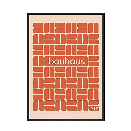 Póster de la Bauhaus de Austria, imagen artística de la pared, póster del alma y decoración del hogar interior, pintura en lienzo sin marco, B 20x30cm