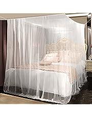 Yotame Rektangulärt myggnät för säng, rese myggnät högkvalitativt fint nät för dubbelsäng, tak för myggskydd, insektsskydd vid resor, storlek: 220 x 200 x 210 cm