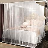 Moskitonetz, yotame rechteckiger Mückennetz für Bett, Reise Moskitonetz Hochwertig Feinmaschig für Doppelbett, Betthimmel für Moskitoschutz, Insektenschutz auf der Reise, Grösse: 220 x...