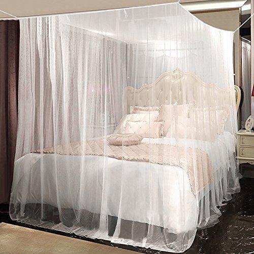 Moskitonetz, yotame rechteckiger Mückennetz für Bett, Reise Moskitonetz Hochwertig Feinmaschig für Doppelbett, Betthimmel für Moskitoschutz, Insektenschutz auf der Reise, Grösse: 230 x 220 x 235 cm