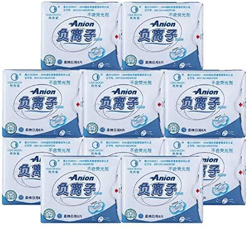 WGIRL Salud De La Mujer De Aniones Toallas Sanitarias Female Health Servilleta Sanitaria del Anión Menstruales Pads Compresas Higiénicas Higiene Femenina De 10 Paquetes