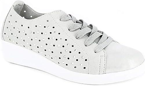 Doctor Cutillas 38451 370 Platino, Chaussures de Ville à Lacets pour Femme
