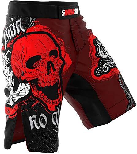 Pantalones Cortos para Hombre SMMASH Samurai Vale Tudo para Artes Marciales, Kick...