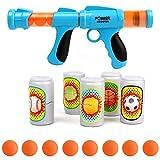FeiWen Pistola Giocattolo per Bambini Giocattolo per tiro con la Pistola Viene Fornito con 8 Palline di Schiuma e 5 Bersagli per Bottiglie