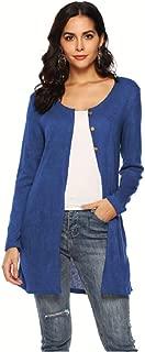 Missroo Fashion V-Neck Longline Button Front Side Slit Plus Size Cardigan