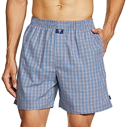 Van Heusen Men's Checkered Boxers (Color & Print May Vary) (10111_Assorted_M)