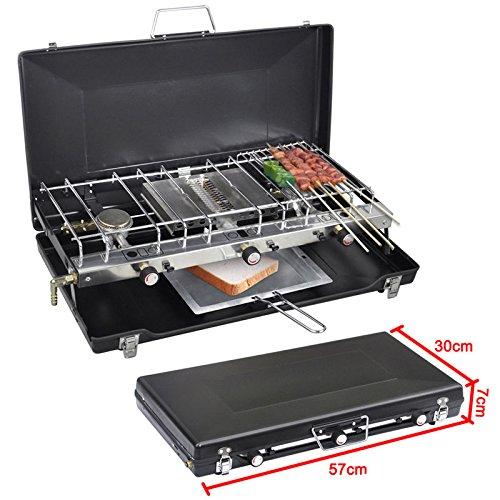 Generic DYHP-A10-CODE-6274-CLASS-1 - Housse pour réchaud de camping, barbecue en plein air UTDOO - Brûleur portable double gaz TER D - NV_1001006274-HP10-UK