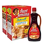 Aunt Jemima Original Syrup & Complete Buttermilk Pancake Mix Variety Pack, 2 (2lb) Boxes of Pancake...
