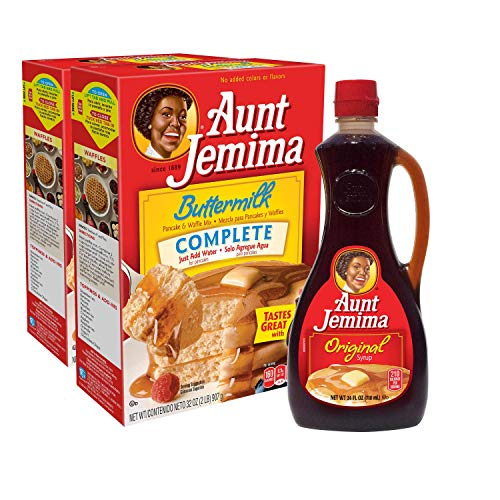 Aunt Jemima Original Syrup amp Complete Buttermilk Pancake Mix Variety Pack 2 2lb Boxes of Pancake Mix amp 1 24oz Bottle of Original Syrup 1 Set